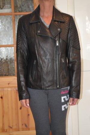 TOP Michael Kors Lederjacke Biker Style Gr. L = 40