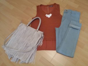 Knitted Top light brown-brown