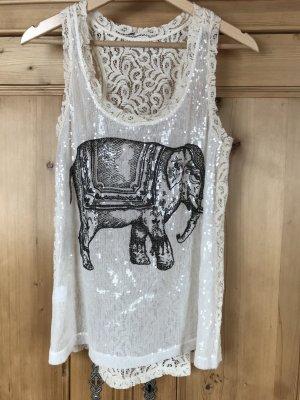 Top mit Elefanten-Print