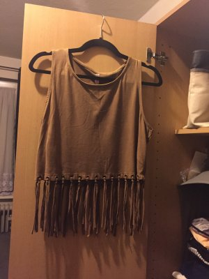 Cut Out Top brown-light brown