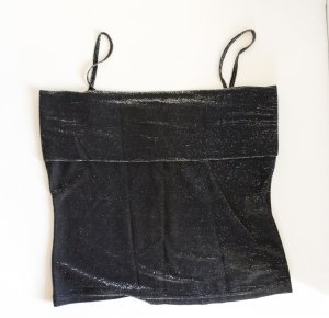Jaqueline de Yong Strappy Top black-silver-colored mixture fibre