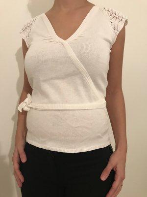 Hallhuber Crochet Shirt natural white