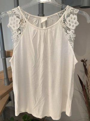 H&M Crochet Top natural white