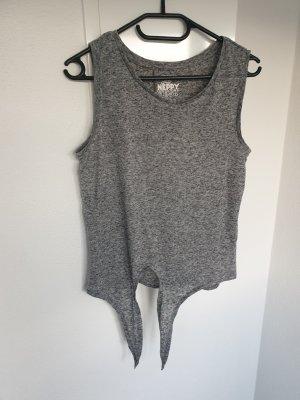 Top basic grigio chiaro-grigio