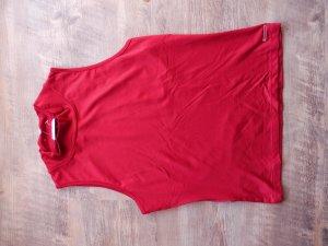 Top mit Kragen von Tom Tailor, Gr.XL, in angesagtem Rot
