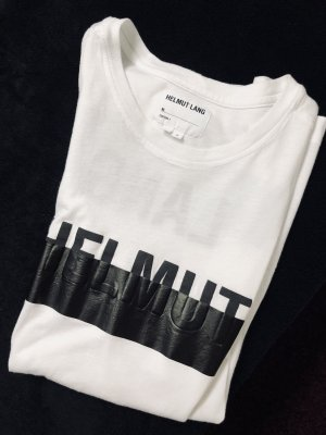 Helmut Lang Top lungo bianco-nero