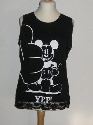 Top mit Mickey Maus und Sitze der angesagten Marke Twinset Xl