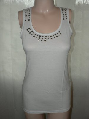 Chillytime Top lungo bianco-argento Viscosa