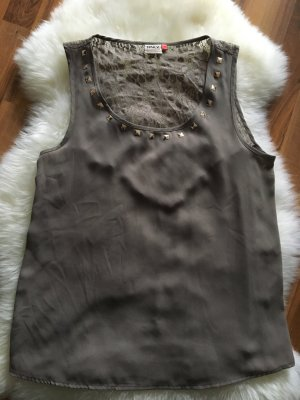 Only Lace Top grey brown