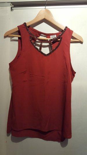 Vero Moda Blusa rosso scuro Poliestere