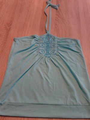 Amisu Backless Top turquoise