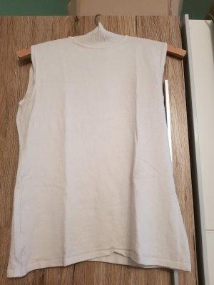 Tita Top con colletto arrotolato bianco