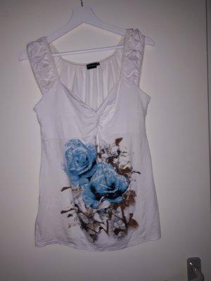 Bodyflirt Shirt wolwit-lichtblauw