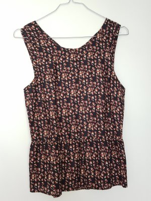 Zara Woman Top in seta multicolore Seta