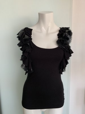 Jane norman Flounce Top black