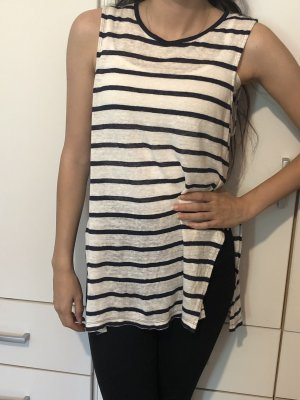 Forever 21 Knitted Top white-dark blue