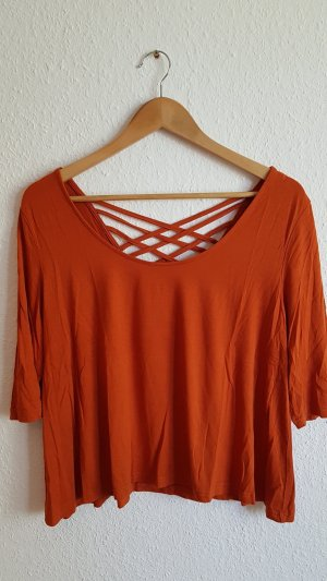 24Colours Rugloze top oranje-donker oranje