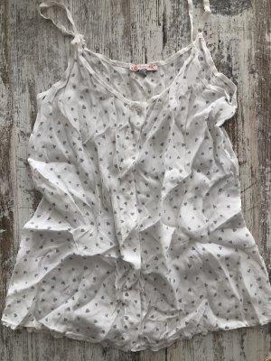 SusyMix Haut en soie blanc-gris clair soie