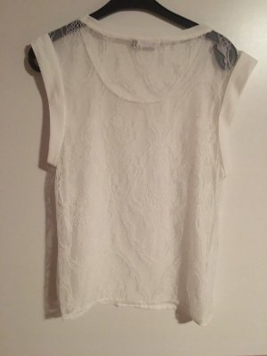 Only Top di merletto bianco