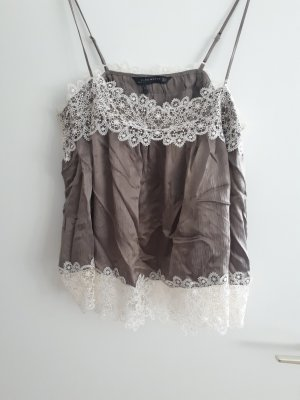 Zara Lace Top white-khaki
