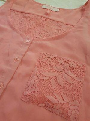 Bershka Haut en dentelle rose polyester