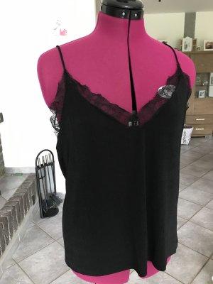 H&M Haut à fines bretelles noir