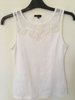 Ann Christine Lace Top white