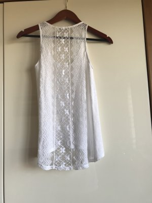 Zara Lace Top white-natural white