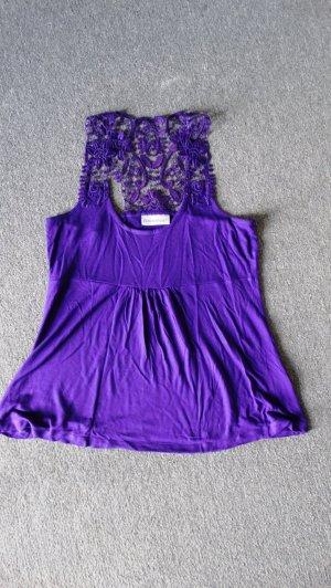 Clockhouse Top di merletto lilla-viola scuro