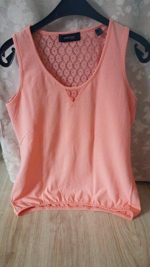 Top mit Spitze in apricot 36/38