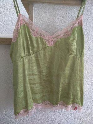 edc by Esprit Top di merletto verde prato-rosa chiaro Viscosa