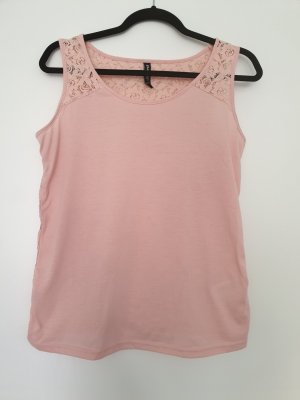 Top di merletto rosa pallido