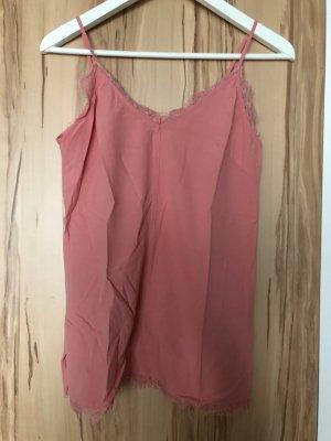 H&M L.O.G.G. Top de encaje rosa