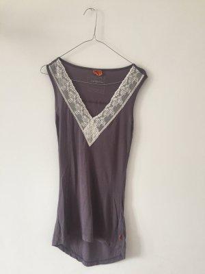 Object Top di merletto malva-grigio-lilla Modal