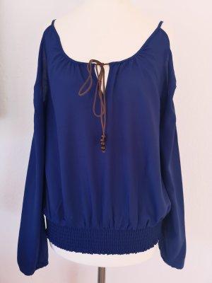Blusa a tunica blu-blu scuro