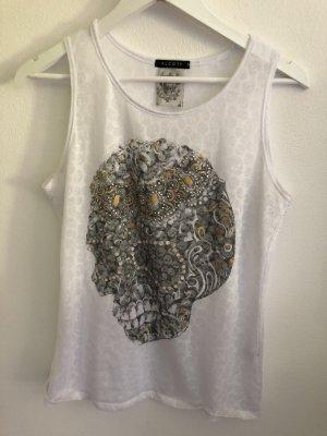 Alcott Camiseta sin mangas blanco-negro