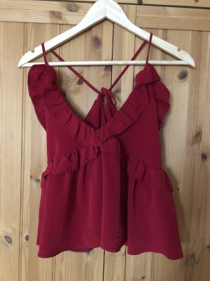 Asos Top met franjes bordeaux