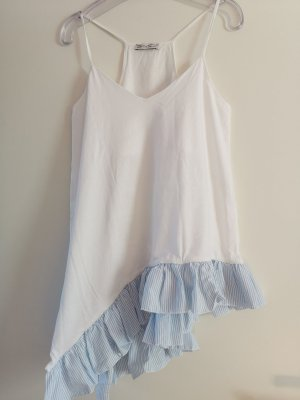 Zara A Line Top white-light blue