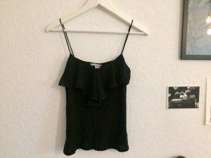 H&M Top à volants noir