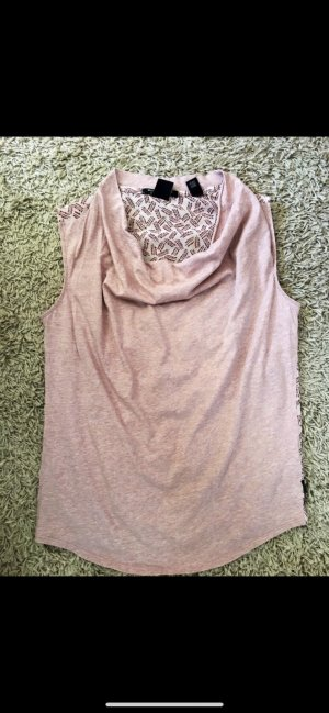 Maison Scotch Cowl-Neck Top rose-gold-coloured
