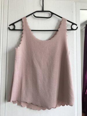 Top mit Wellenkanten rosa H&M