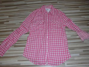 H&M Checked Blouse pink-white