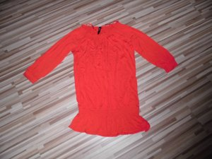 Flame Shirt Tunic red