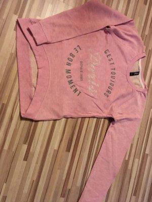Top-moderner Pullover, rose
