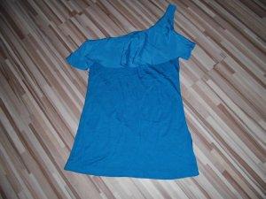 H&M One Shoulder Top neon blue