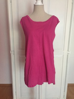 Top Muskelshirt Basic pink oversized