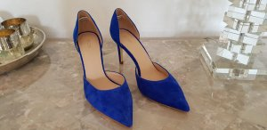 ***TOP***NEU***Velourslederpumps in Blau Gr.39