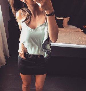Zara Top di merletto nero-verde chiaro