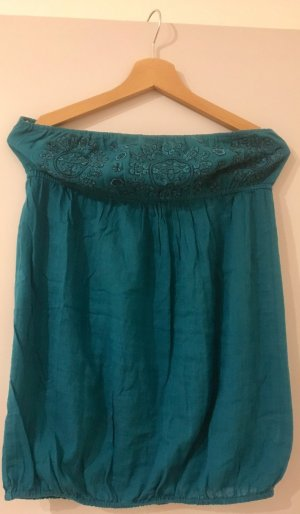 Backless Top turquoise