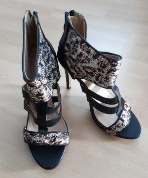 Top oR High Heels, Gr. 37, Sandale m. Glitzer, neu